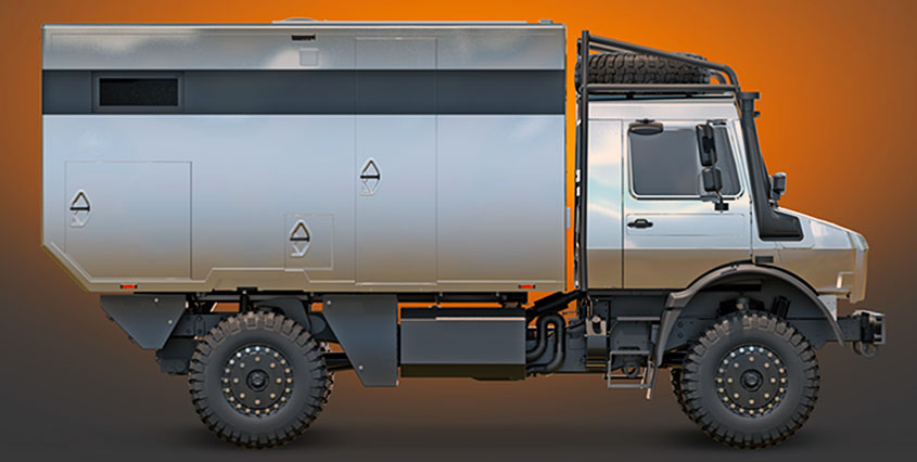 Автодом на базе Unimog от Hellgeth Engineering и Krug Expedition
