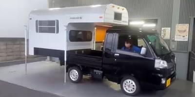 Японки управляются с автодомами в одиночку. Видео