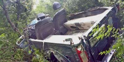 Упавший с горы УАЗ запустил проверку джиперов и автотуристов
