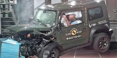 Suzuki Jimny провалил краш-тест. Видео