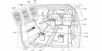 Форд запатентовал грелку и конвейер для внедорожников
