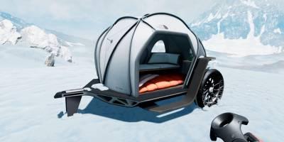 Экстремальную палатку поставили на колеса