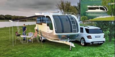 В Германии построили караван двойного назначения: для суши и для «моря»