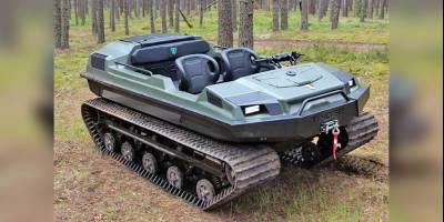 Гусеничный вездеход Tinger испытали в белорусских болотах