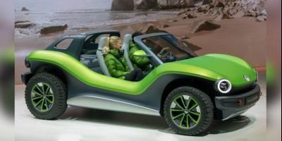 Концепт электрического Volkswagen ID Buggy показали на пляжном «бездорожье»