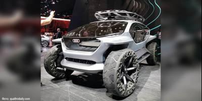 В Audi придумали внедорожник будущего с дронами вместо фар