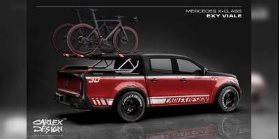 Пикап Mercedes X-class оборудовали для перевозки велосипедов