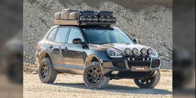 Старенький Porsche Cayenne подготовили к путешествию по Африке