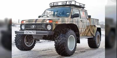 В Тольятти начали выпускать пикап-снегоболотоход на базе LADA 4×4