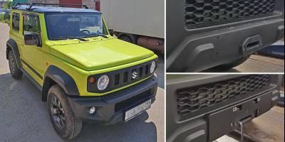 Скрытую установку лебёдки на Suzuki Jimny последнего поколения показали в Твери