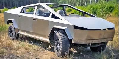 Воронежская реплика Tesla Cybertruck поехала! Пока без днища, крыши и стёкол