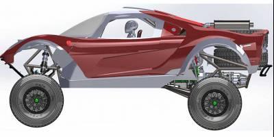 Багги-конструктор от строителей суперкаров показали на рендерах
