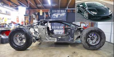Суперкар Lamborghini Huracan «по приколу» превращают во внедорожный субербагги