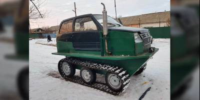 В Волгоградской области продают супер-компактный вездеход на гусеничном ходу