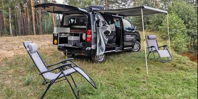 Минивэн Peugeot Traveller приспособили для охоты и рыбалки