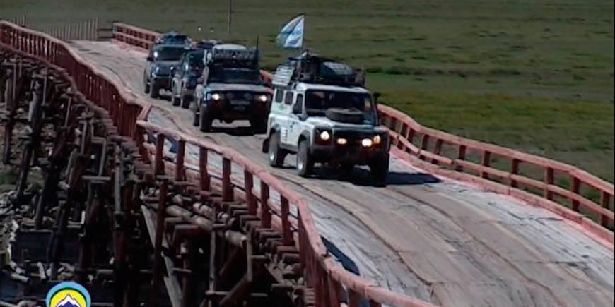 Пьяный мост в Монголии