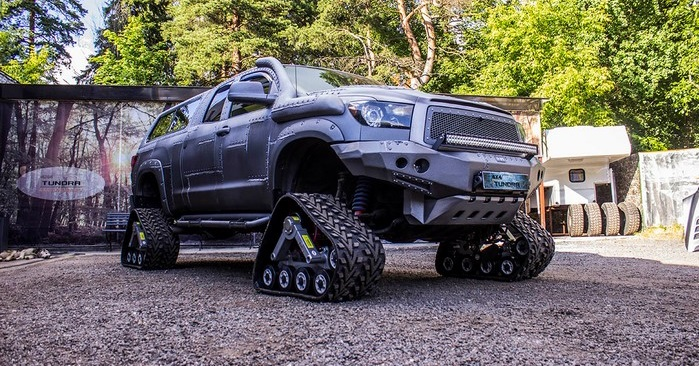 Toyota Tundra на гусеницах WheelTracks